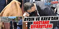 MHP ADAYLARI AYDIN VE KAYA'DAN HASTANE ZİYARETLERİ