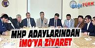 MHP ADAYLARINDAN, İNŞAAT MÜHENDİSLERİ ODASINA ZİYARET