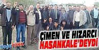 MHP'Lİ ÇİMEN VE HIZARCI, HASANKALE'DE SEÇİM ÇALIŞMASI YAPTI
