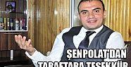 ŞENPOLAT'DAN TARAFTARA TEŞEKKÜR