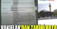 VAKIFLAR'DAN TARİHİ HATA!