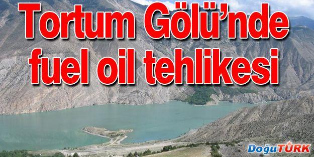 TORTUM GÖLÜNDE FUEL OIL TEHLİKESİ