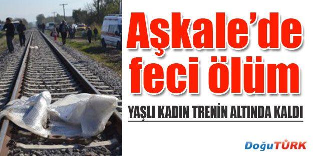 TRENİN ALTINDA KALAN KADIN FECİ ŞEKİLDE ÖLDÜ
