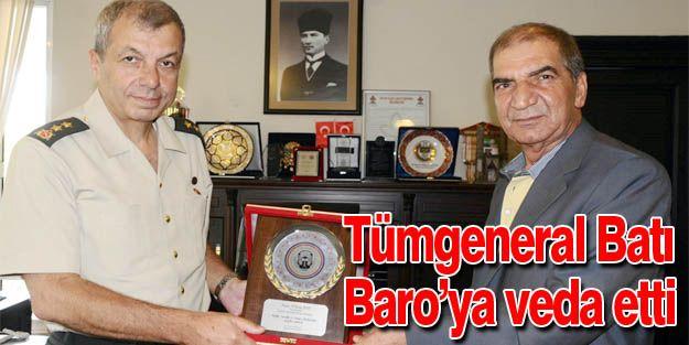 TÜMGENERAL BATI, ERZURUM BAROSU'NA VEDA ETTİ
