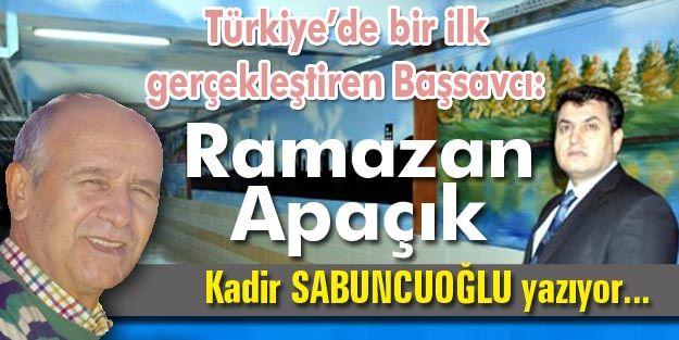Türkiye'de bir ilk gerçekleştiren Başsavcı: Ramazan Apaçık