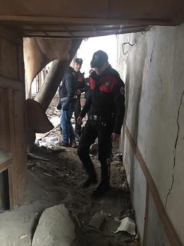 Erzurum polisinden metruk binalara denetim ile ilgili görsel sonucu