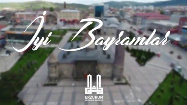 Erzurum Büyükşehir Belediyesi'nden bayram videosu
