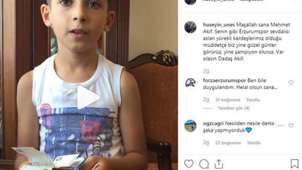 Minik taraftarlardan BB Erzurumspor'a duygusal destek