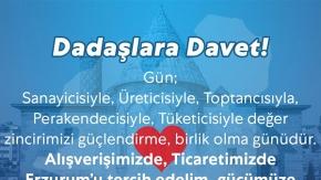 """Erzurum'da salgın sürecinde """"yerel esnafa destek"""" kampanyası"""